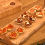 Gino D'Acampo Christmas party food three ways canapes recipe on Let's Do Christmas