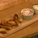 Gino Christmas breakfast recipe with Coddled Eggs on Let's Do Christmas