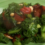 Nigel Slater chorizo sausage and greens recipe on Nigel Slater's  New Year Suppers