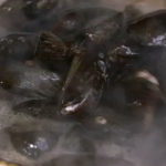 Nigel Slater mussels with cider recipe on Nigel Slater's  New Year Suppers