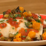 Gino D'Acampo open vegetable lasagne recipe for vegan on Let's Do Christmas with Gino and Mel