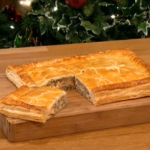 Gino salmon coulibiac pie recipe from Russia on Let's Do Christmas with Gino and Mel