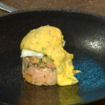 James Martin smoked salmon hash brown with poached eggs and hollandaise sauce recipe recipe Christmas Kitchen