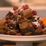 Chocolate brownies with mayonnaise recipe on Mel and Sue