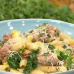 James Tanner Sausage and kale pasta recipe on Lorraine