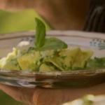 Two Greedy Italians  pesto with Silk handkerchief pasta  recipe on Saturday Kitchen