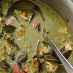 James Martin Summer vegetable soup with mussels recipe James Martin: Home Comforts