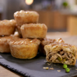 Ching's mini chicken and mushroom pies recipe on Food and Drink