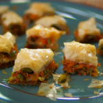 Tom Kerridge carrot and pistachio baklava recipe on Food and Drink