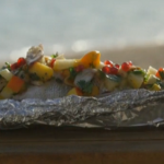 Phil Vickery steamed emperor fish with spicy fruit salad and peanuts recipe on This Morning