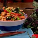 James Tanner orange chicken stir-fry recipe on Lorraine
