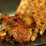 Thomas Keller Roast chicken with waffles recipe on Saturday Kitchen