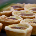 Paul Hollywood chocolate custard tarts recipe on Bake Off Easter Masterclass