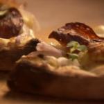 Two Greedy Italians pizza  with salami recipe on Saturday Kitchen