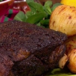 Nadia Sawalha slow cooked lamb recipe on Lorraine