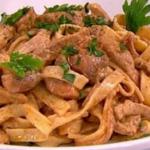 James Tanner Speedy pork stroganoff recipe on Lorraine