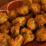 Rick Stein salt cod fritters with parsley and garlic recipe on Saturday Kitchen