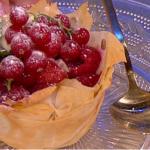 Sally Bee red berry filo tart recipe on Lorraine