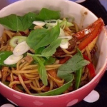 James Tanner's honey and soy pork noodles recipe on Lorraine