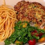 Nadia's crispy pork escalopes with spaghetti recipe on Lorraine