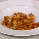 Phil Vickery prawns with noodles and yuzu juice  recipe on This Morning