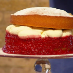 James Martin Victoria sponge with raspberry jam recipe on Saturday Kitchen