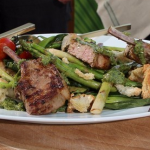Dean Edwards barbecue lamb chops with minted salsa verde recipe on Lorraine