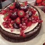 Sally Bee chocolate beany cake reecipe on Lorraine