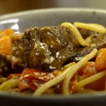 Nigel Slater  spaghetti bolognese with short ribbs recipe on Nigel Slater: Eating Together
