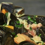 James Tanner BBQ Mussels with West Country cider recipe on Lorraine