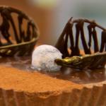 Nadiya peanut salted caramel and chocolate tart recipe on The Great British Bake Off