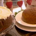 The Kentish Puddle Pudding and Welby pudding at Tiny Tim's Tearoom on Terry and Mason's Great Food Trip