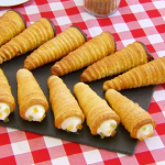 Paul Hollywood tutti frutti and  mocha cream horns recipe on Bake Off Masterclass