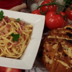 Dean Edwards Spaghetti carbonara recipe on Lorraine