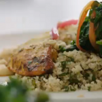Jamie Oliver seared turmeric chicken recipe on Jamie's Super Food