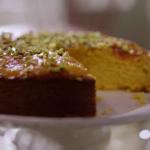 Nigella Lawson apricot and almond cake with polenta recipe on Simply Nigella