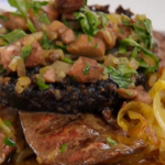 Brian Turner grilled lambs liver with black pudding recipe on My Life on a Plate