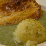 Cooke's pie and mash with parsley liquor recipe on My Life on a Plate with Brian Turner