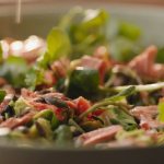Nigella Lawson salmon with watercress and avocado salad recipe on Simply Nigella