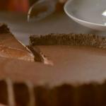 Nigella Lawson dark chocolate tart with smoked salt and chocolate sandwich biscuits recipe