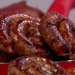 James Tanner Smoky bonfire bangers and beans casserole recipe on Lorraine