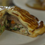 James Martin pithivier recipe with beef and leftover veg  on Home Comforts at Christmas