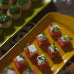 James Martin smoked salmon and chive choux buns with feta cheese bites canapes recipe on Home Comforts at Christmas