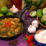 Dean Edwards Chicken and spinach Christmas curry recipe on Lorraine