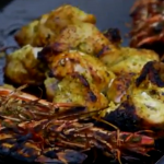James Martin barbecued coconut prawns with chicken tikka recipe on Home Comforts at Christmas