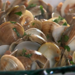 Rick Stein clams serrano ham recipe on Saturday Kitchen