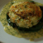 James Martin fish cakes with chive beurre blanc recipe on Home Comforts at Christmas