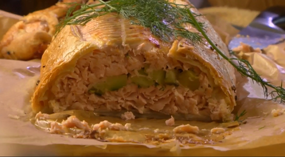 Nigel Slater Salmon Wellington Recipe On Saturday Kitchen The Talent Zone