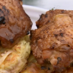 The Hairy Bikers chicken thigh stuffed with parsley and thyme recipe on Saturday Kitchen
