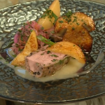 Kuba Winkowski wild boar loin and sausage parcel recipe on Saturday Kitchen